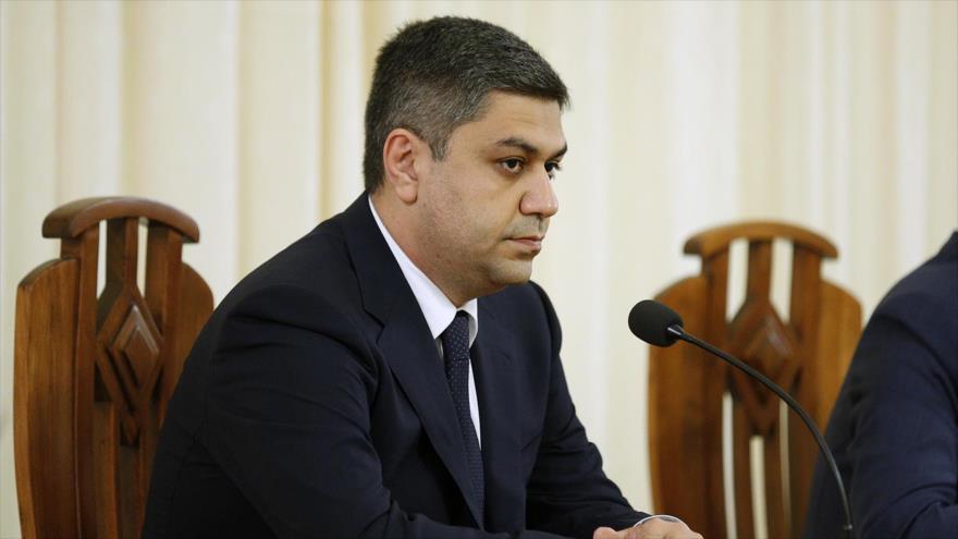 El opositor Artur Vanetsian, exjefe de la Seguridad Nacional de Armenia.