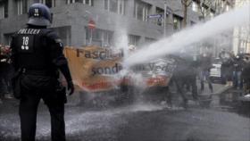 Manifestantes anticuarentenas ya buscan derrocar al Gobierno alemán