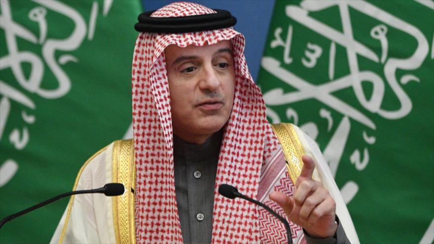 El ministro de Estado de Asuntos Exteriores de Arabia Saudí, Adel al-Yubeir, en una rueda de prensa en Budapest, 24 de enero de 2020. (Foto: AFP)