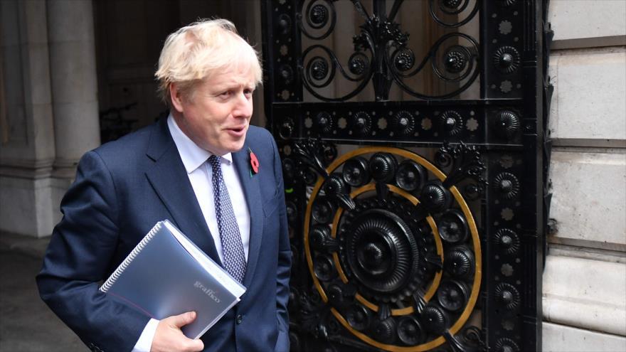 El primer ministro británico, Boris Johnson, tras una reunión del Gabinete en Londres, capital, 10 de noviembre de 2020. (Foto: AFP)