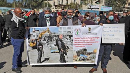 Israel ataca a palestinos que protestan contra visita de Pompeo