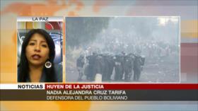 Cruz Tarifa: En Bolivia aún no han imputado a nadie por masacres