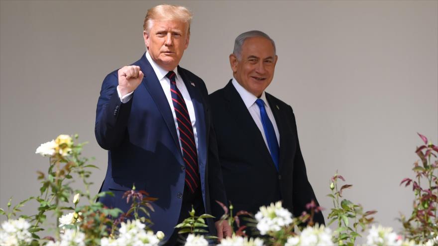 El presidente de EE.UU., Donald Trump (izda.), y el primer ministro israelí, Benjamín Netanyahu, en una reunión en Washington, EE.UU., 15 de septiembre de 2020. (Foto: AFP)