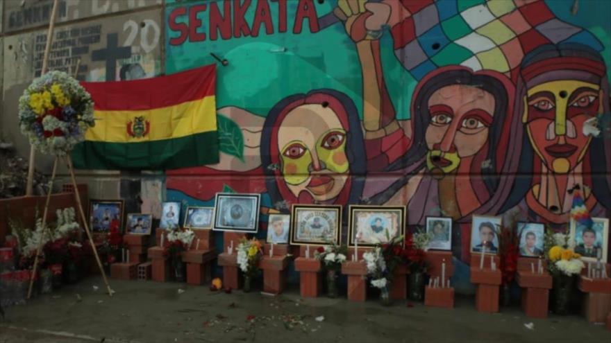 La concentración para honrar a las víctimas de la masacre de Senkata, El Alto (Bolivia), en conmemoración de su primer aniversario, 19 de noviembre de 2020.