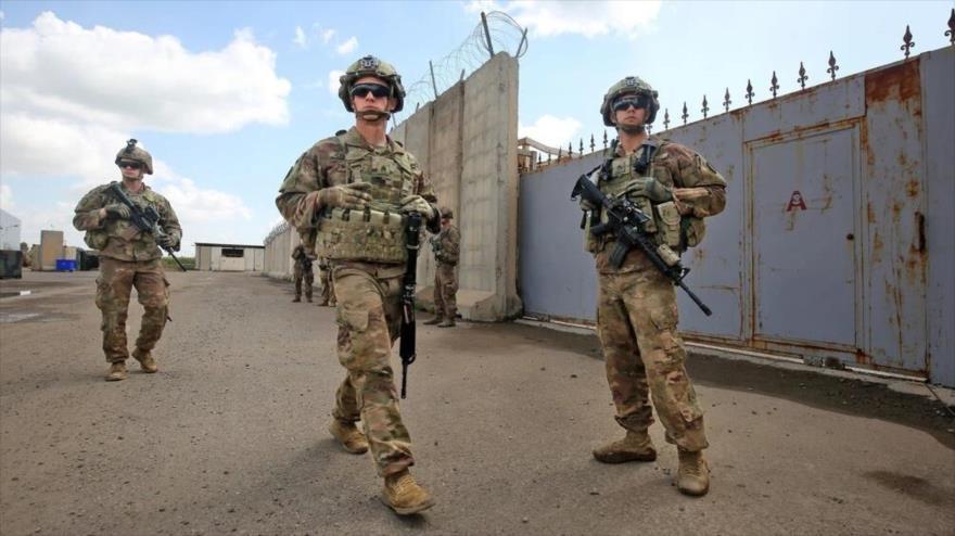 Soldados estadounidenses en una base aérea del noroeste de Kirkuk, norte de Irak, marzo de 2020. (Foto: Getty Images)