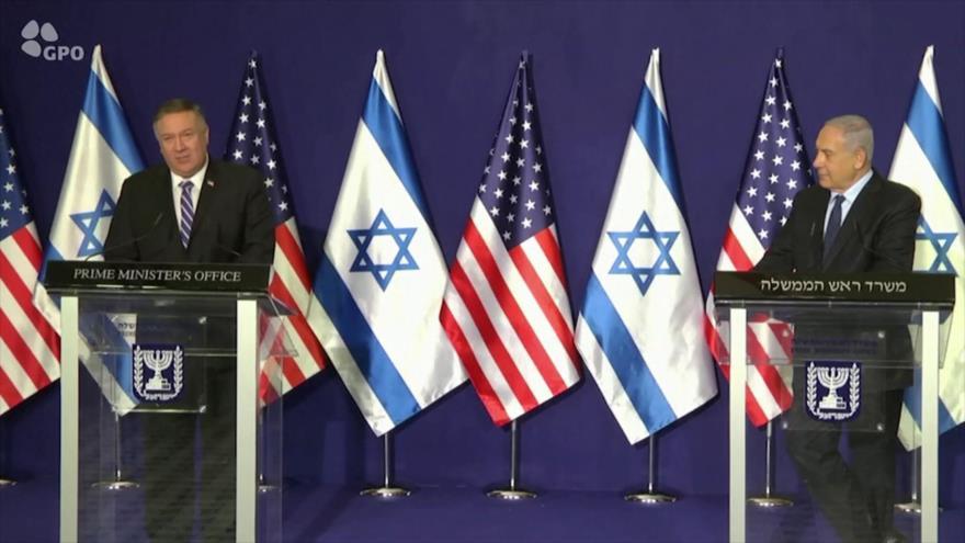 Palestina condena visita de Pompeo a una colonia en Cisjordania