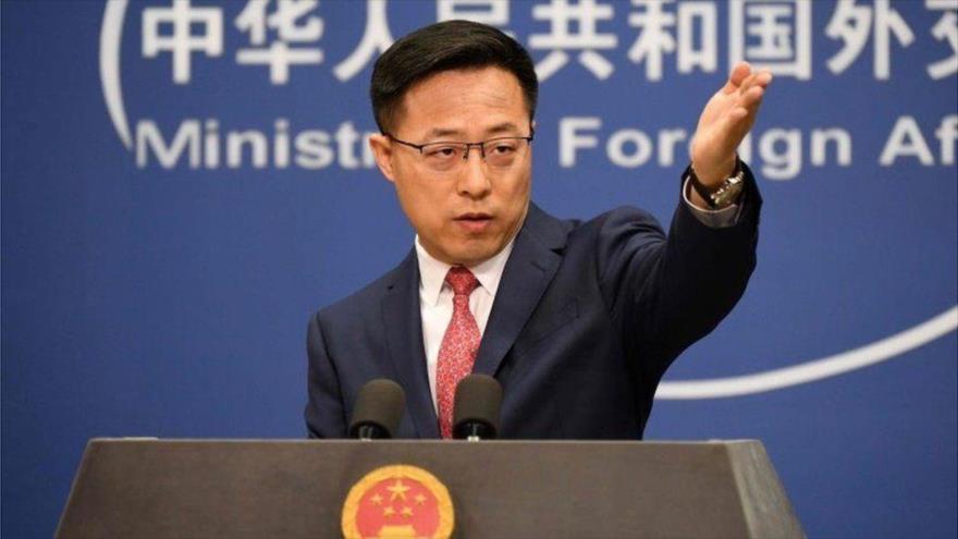 El portavoz de la Cancillería china,Zhao Lijian.