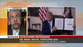 Tortolero Leal: Trump, con presiones a Irán, busca mantener cargo