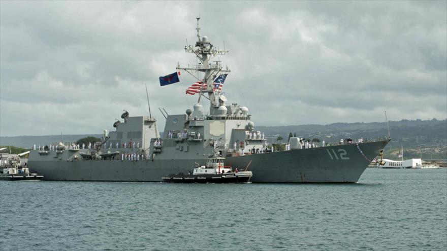 El buque de guerra de EE.UU. USS Michael Murphy.