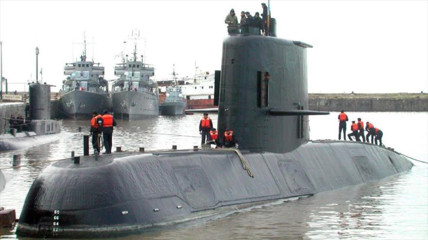 El submarino 'ARA San Juan' de la Fuerza Armada de Argentina antes de su hundimiento el 17 de noviembre de 2018. (Foto: AFP)