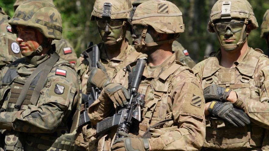 """Tropas polacas participan en los ejercicios militares """"Defender-Europe 20"""" en Polonia, 17 de junio de 2020. (Foto: AFP)"""