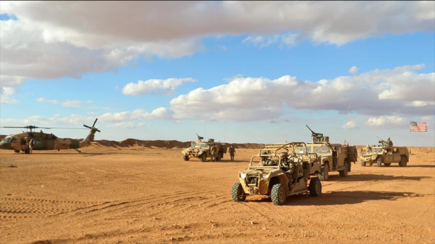 Tropas de EE.UU. en la región de Al-Tanf.