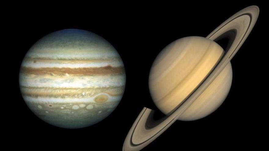 Júpiter y Saturno, alineación no vista en el cielo desde la Edad Media