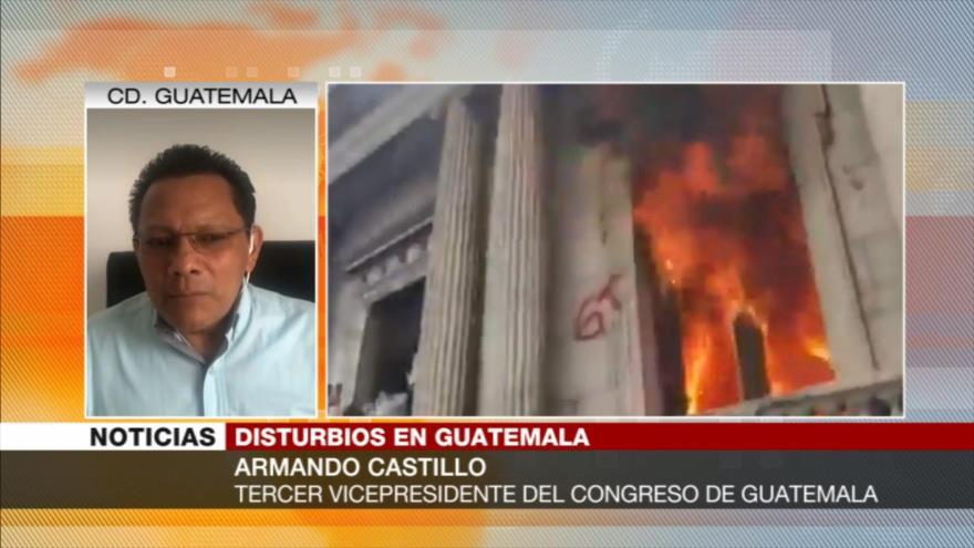 Castillo: Ataque a Congreso muestra gran molestia de guatemaltecos | HISPANTV
