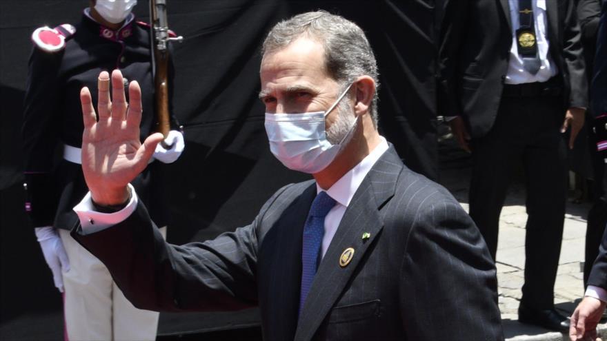 El rey Felipe VI de España, durante la ceremonia de la investidura del presidente de Bolivia, Luis Arce, en La Paz, 8 de noviembre de 2020. (Foto: AFP)