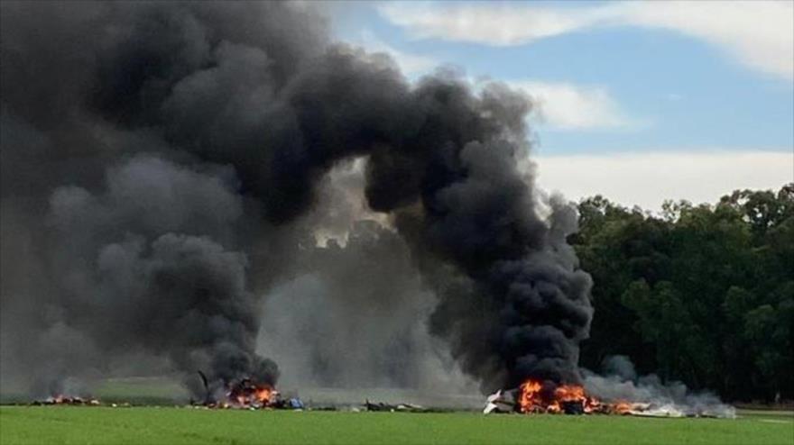 Vídeo: Se estrella avión militar israelí; hay dos muertos