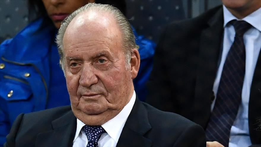 El rey emérito de España, Juan Carlos I, en un partido de tenis en Madrid, capital española, 11 de mayo de 2019. (Foto: AFP)