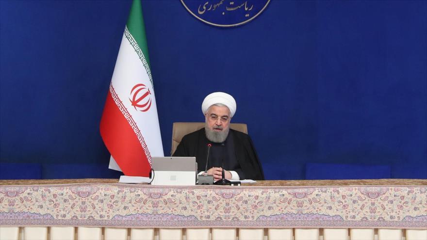 El presidente iraní, Hasan Rohani, en una reunión del Gobierno en Teherán, la capital, 25 de noviembre de 2020. (President.ir)