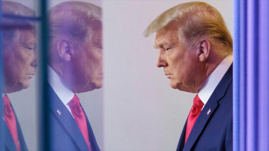 El presidente de EE.UU., Donald Trump, antes de una conferencia de prensa en la Casa Blanca, 24 de noviembre de 2020. (Foto: AFP)