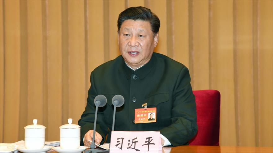 El presidente chino, Xi Jinping, en una reunión de la Comisión Militar Central, Pekín (la capital), 25 de noviembre de 2020. (Foto: Xinhua)