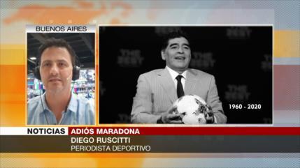 Periodista Ruscitti explica cómo Argentina despide a Maradona