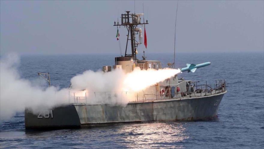 Misiles de crucero marítimos de Irán golpean con éxito sus blancos