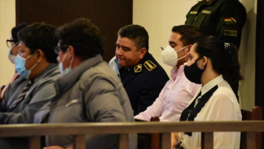 El general Alfredo Cuéllar, imputado por el delito de asesinato, en grado de tentativa (centro). (Foto: El Tiempo)