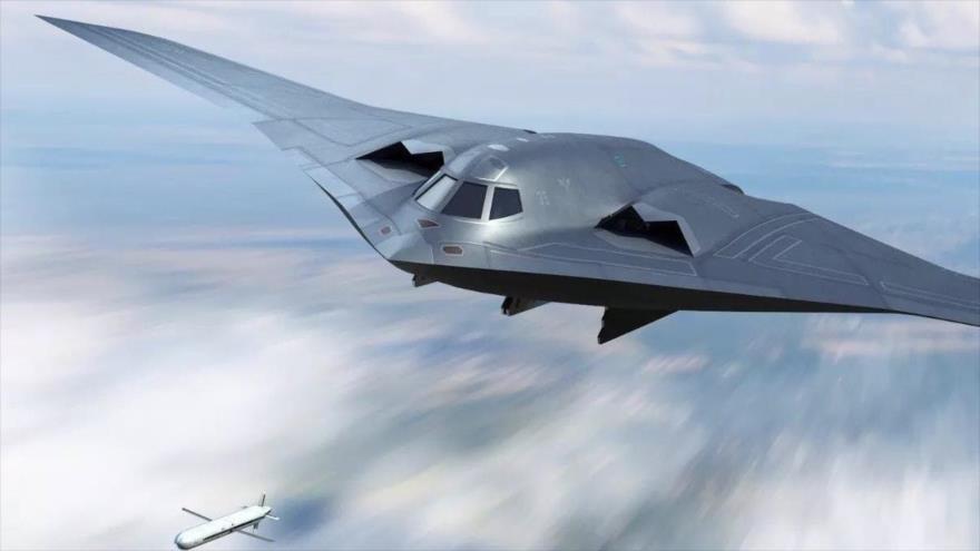Imagen ilustrativa del bombardero furtivo chino H-20.