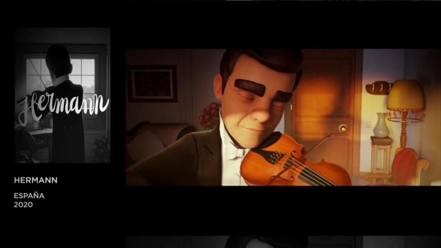"""Blanco: El cortometraje """"Hermann"""" dirigido por Jordi García, """"Cuarentena"""" dirigido por Ángel Moraleda Lacruz, """"Eyvaz"""" dirigido por Milad Zafari."""