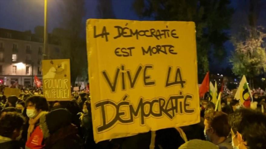 Siguen protestas contra proyecto de ley de seguridad en Francia