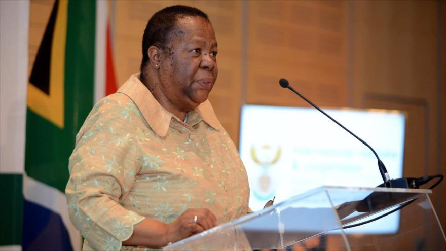 La ministra de Relaciones Internacionales y Cooperación de Sudáfrica, Naledi Pandor.