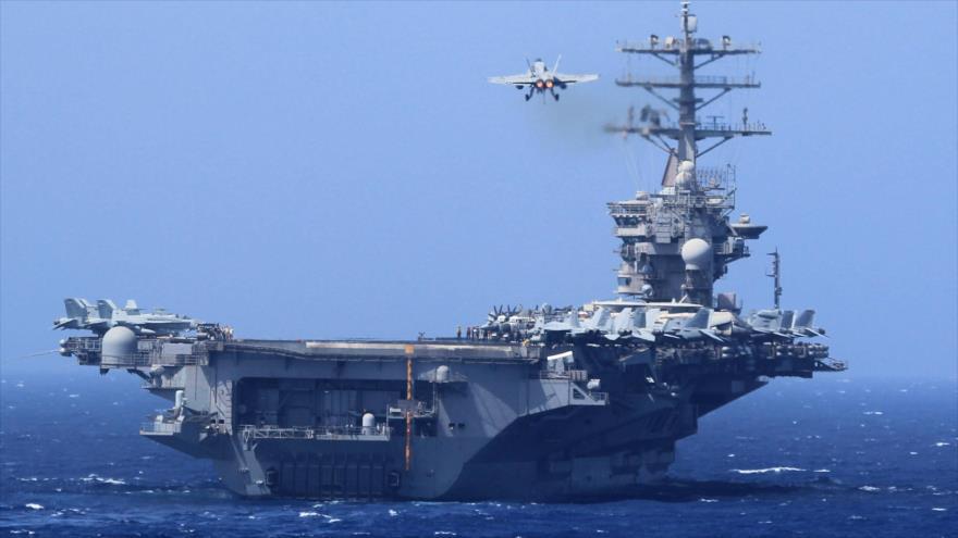 El portaviones estadounidense USS Nimitz (CVN 68)