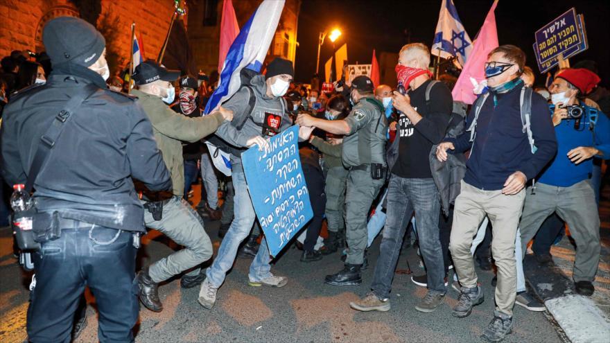 Vídeo: Miles de israelíes protestan ante residencia de Netanyahu