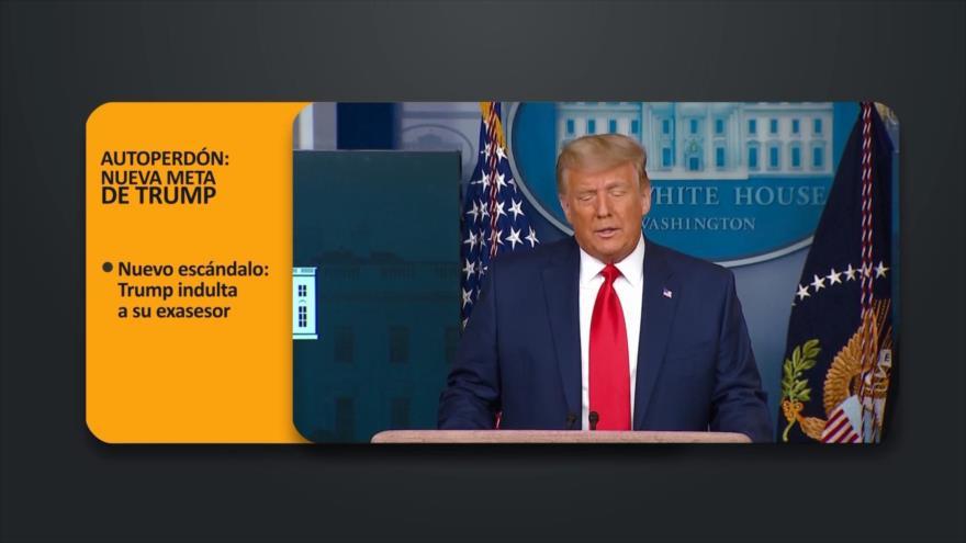 PoliMedios: Autoperdón; Nueva meta de Trump