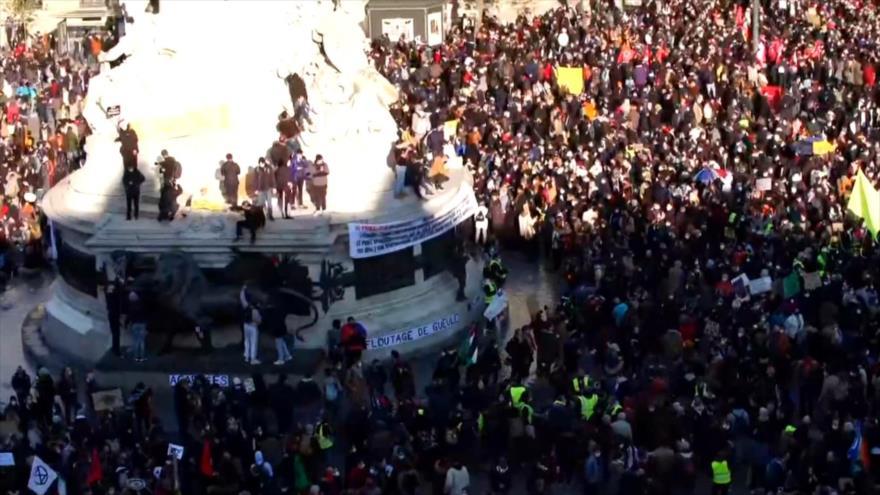 Masivas protestas en Francia contra la nueva ley de seguridad