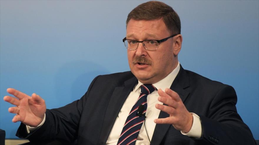 El presidente del Comité de Asuntos Exteriores del Consejo de la Federación Rusa, Konstantín Kosachev.