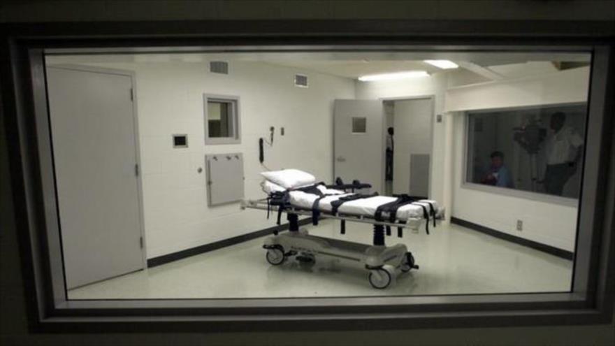 Vista de la sala de ejecución de la prisión en Atmore, en el estado de Alabama, EE.UU.