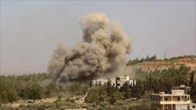 Vídeo: Cazas rusos renuevan bombardeos contra terroristas en Idlib