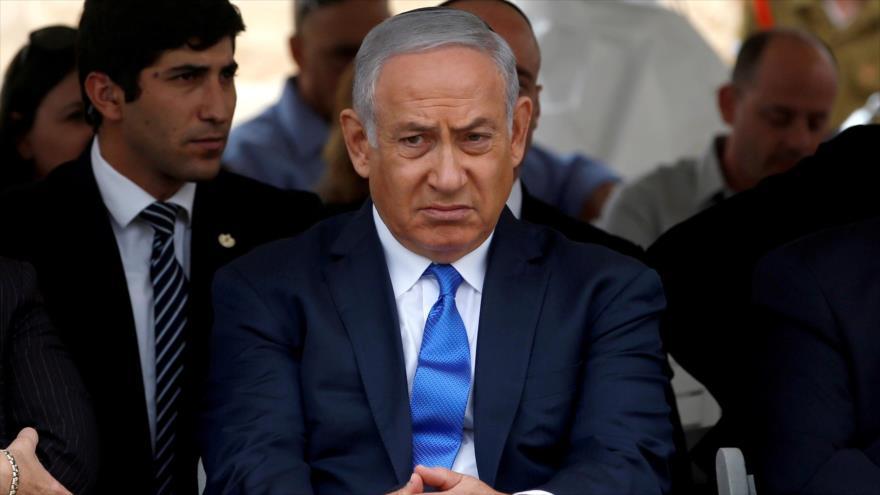 El premier israelí, Benjamín Netanyahu, en una ceremonia en Sde Boker, territorios ocupados palestinos, 14 de noviembre de 2018. (Foto: Reuters)