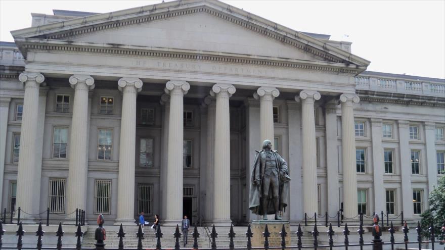 Sede del Departamento del Tesoro de EE.UU. en Washington, la capital.