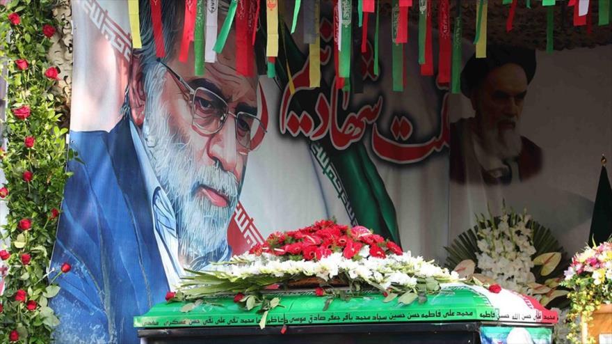 Funeral del asesinado científico nuclear iraní Mohsen Fajrizade en Teherán, capital de Irán, 30 de noviembre de 2020. (Foto: AFP)