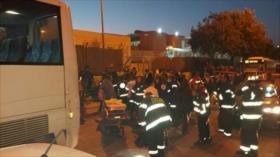 Vídeo impactante: Autobús israelí embiste a un grupo de palestinos