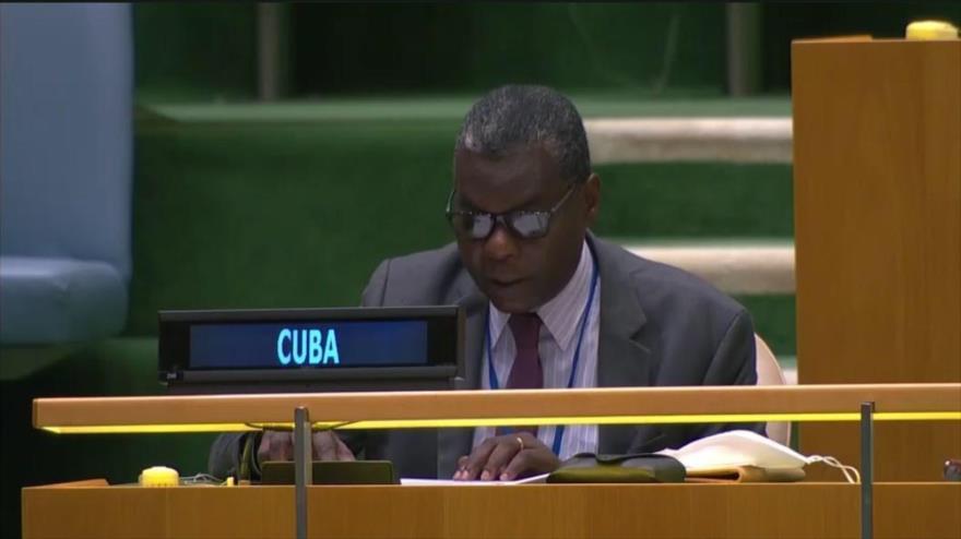 El representante permanente de Cuba ante la ONU, Pedro Luis Pedroso, 12 de noviembre de 2020. (Foto: Twitter)