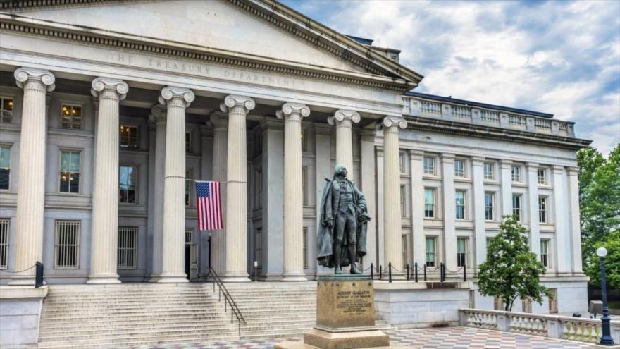 La sede del Departamento del Tesoro de EE.UU. en Washington D.C., capital.