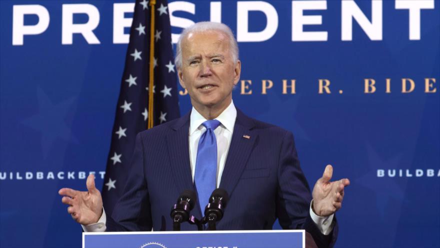 El presidente electo de EE.UU., Joe Biden, habla en un acto en Wilmington, Delaware, 1 de diciembre de 2020. (Foto: AFP)