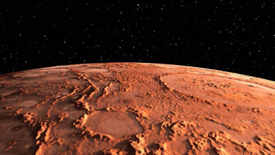Imagen ilustrativa de la superficie de Marte.