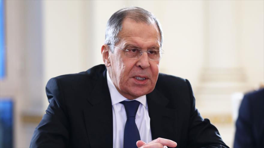 El canciller de Rusia, Serguéi Lavrov, durante una reunión en Bakú, la capital de Azerbaiyán, 21 de noviembre de 2020. (Foto: AFP)
