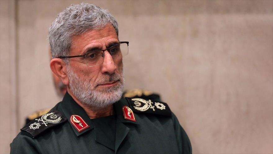 El general de brigada Esmail Qaani, comandante de la Fuerza Quds del Cuerpo de Guardianes de la Revolución Islámica (CGRI) de Irán.