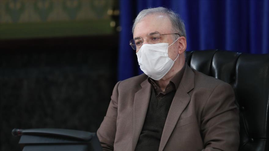 El ministro iraní de Salud, Said Namaki, en una reunión del Comité Nacional de la Lucha contra el coronavirus, 5 de diciembre de 2020. (Foto: President.ir)