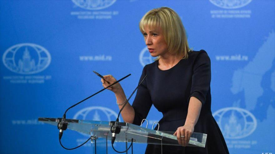 La portavoz del Ministerio de Asuntos Exteriores de Rusia, María Zajarova.